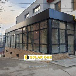 Inchideri balcoane sau terase cu acoperis - din aluminiu